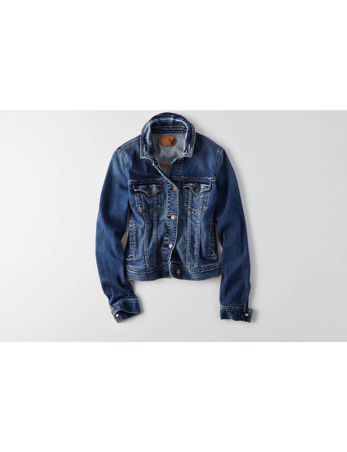 Display product reviews for AEO Super Soft Denim Jacket