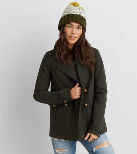 Military Wool Peacoat