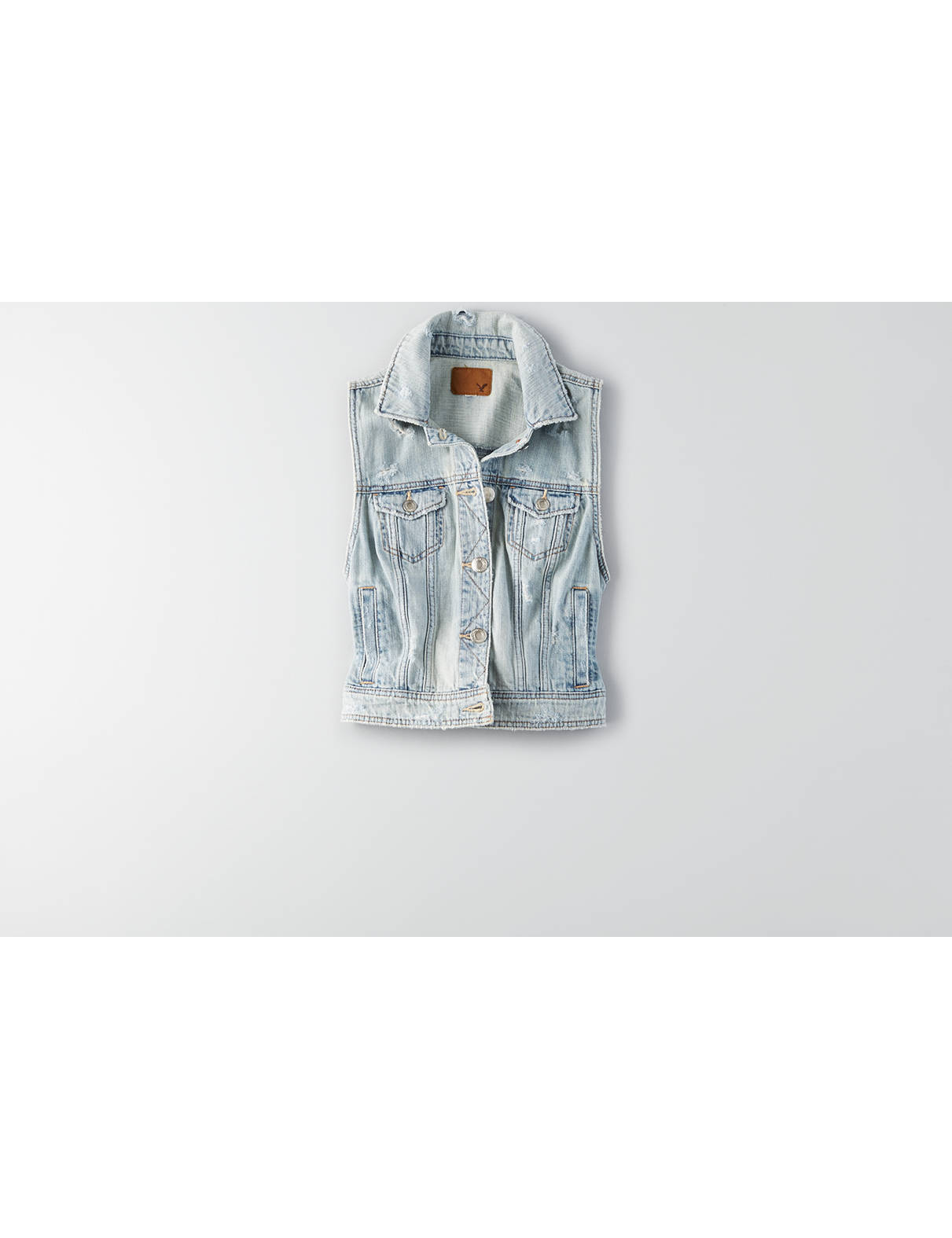 Display product reviews for AEO Denim Vest