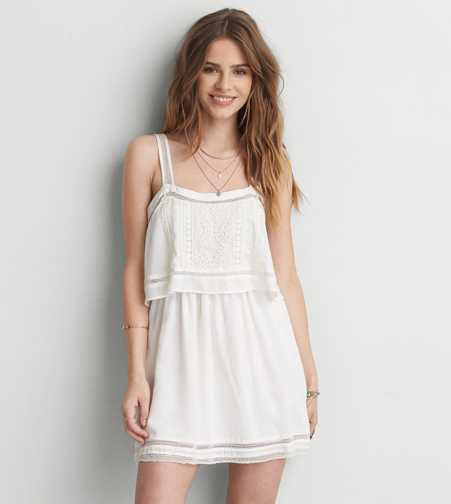 AEO Lace Overlay Dress