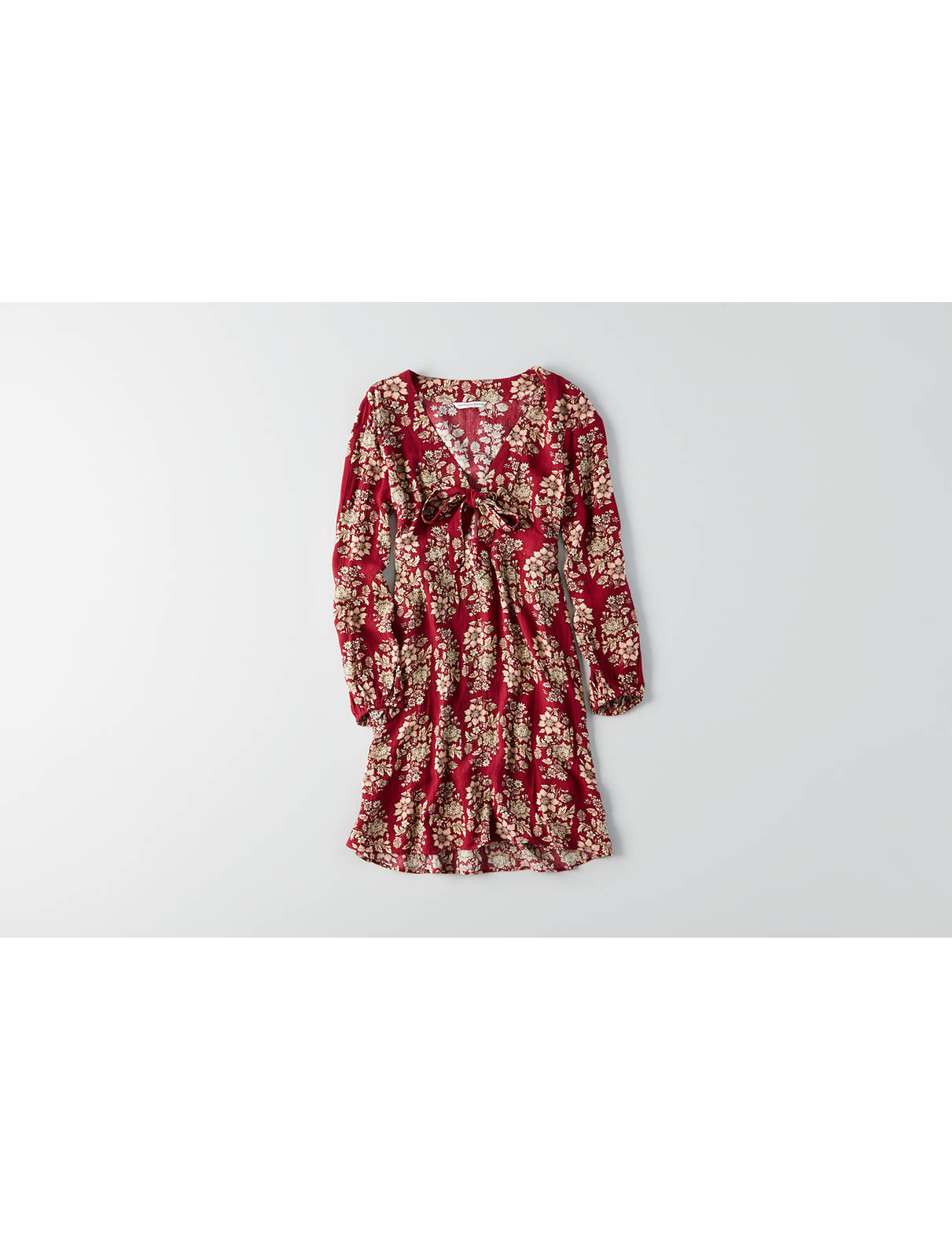 Display product reviews for AEO Tie Front Grommet Dress
