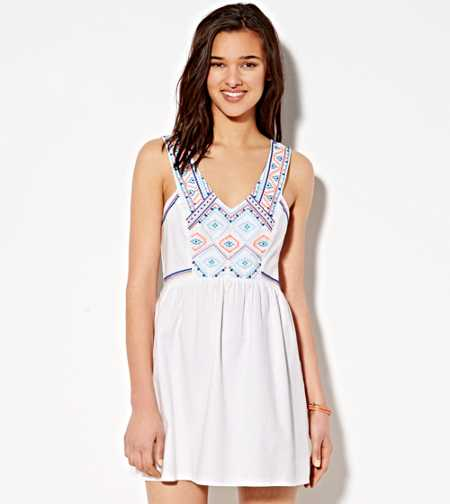 AE Boho Embroidered Dress