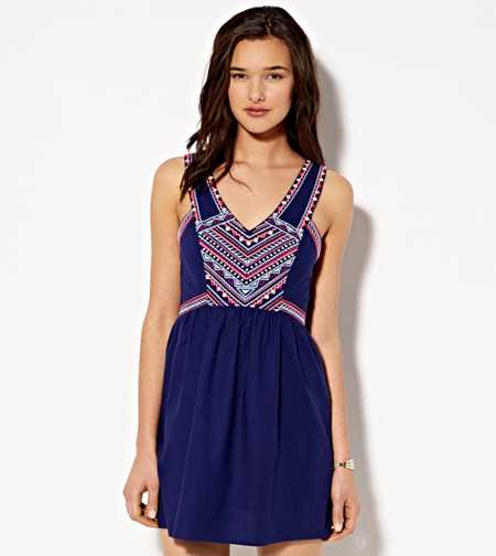 AE Boho Embroidered Dress - Buy One Get One 50% Off