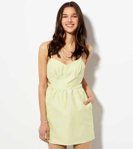 AE Cutout Jacquard Sundress - Buy One Get One 50% Off