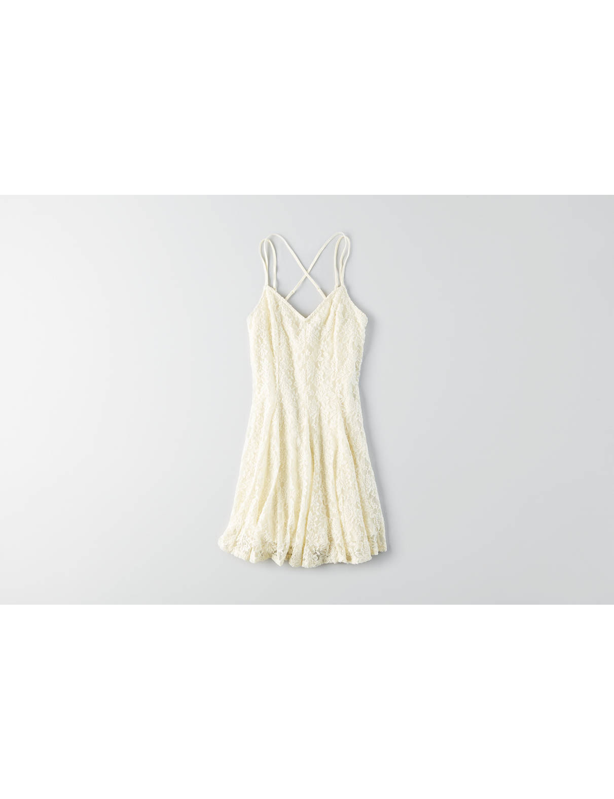 Display product reviews for AEO Lace Cross-Back Dress