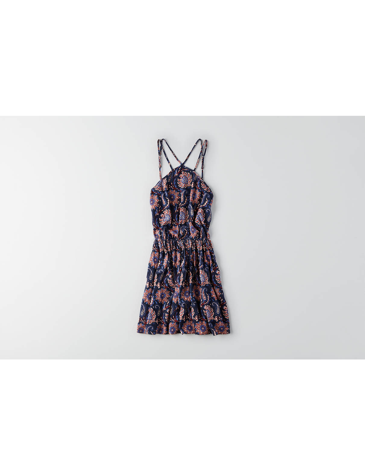 Display product reviews for AEO Strappy Fit & Flare Dress