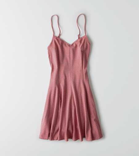 AEO Striped Knit Fit & Flare Dress