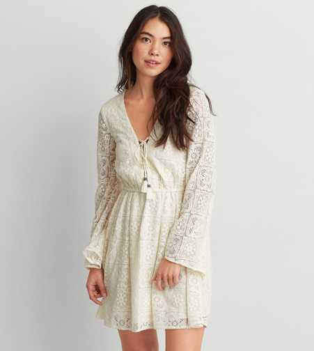 AEO Lace Bell Sleeve Dress