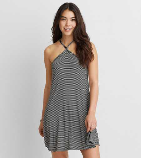 AEO Soft & Sexy Cross-Strap Shift Dress