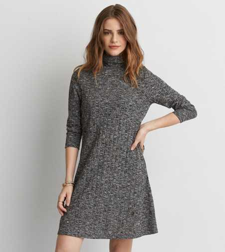 AEO Rib Turtleneck Dress