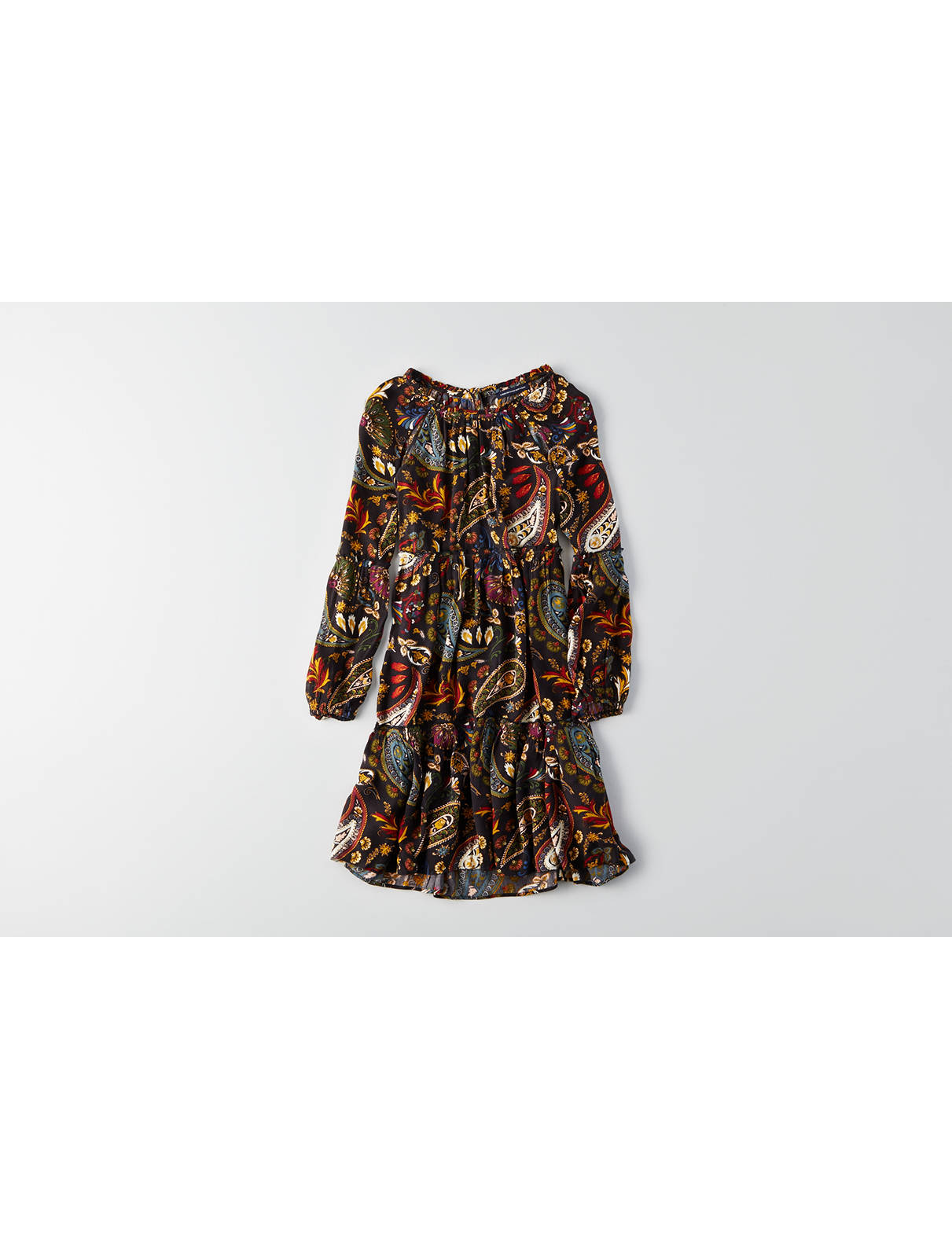 Display product reviews for AEO Keyhole Back Printed Dress
