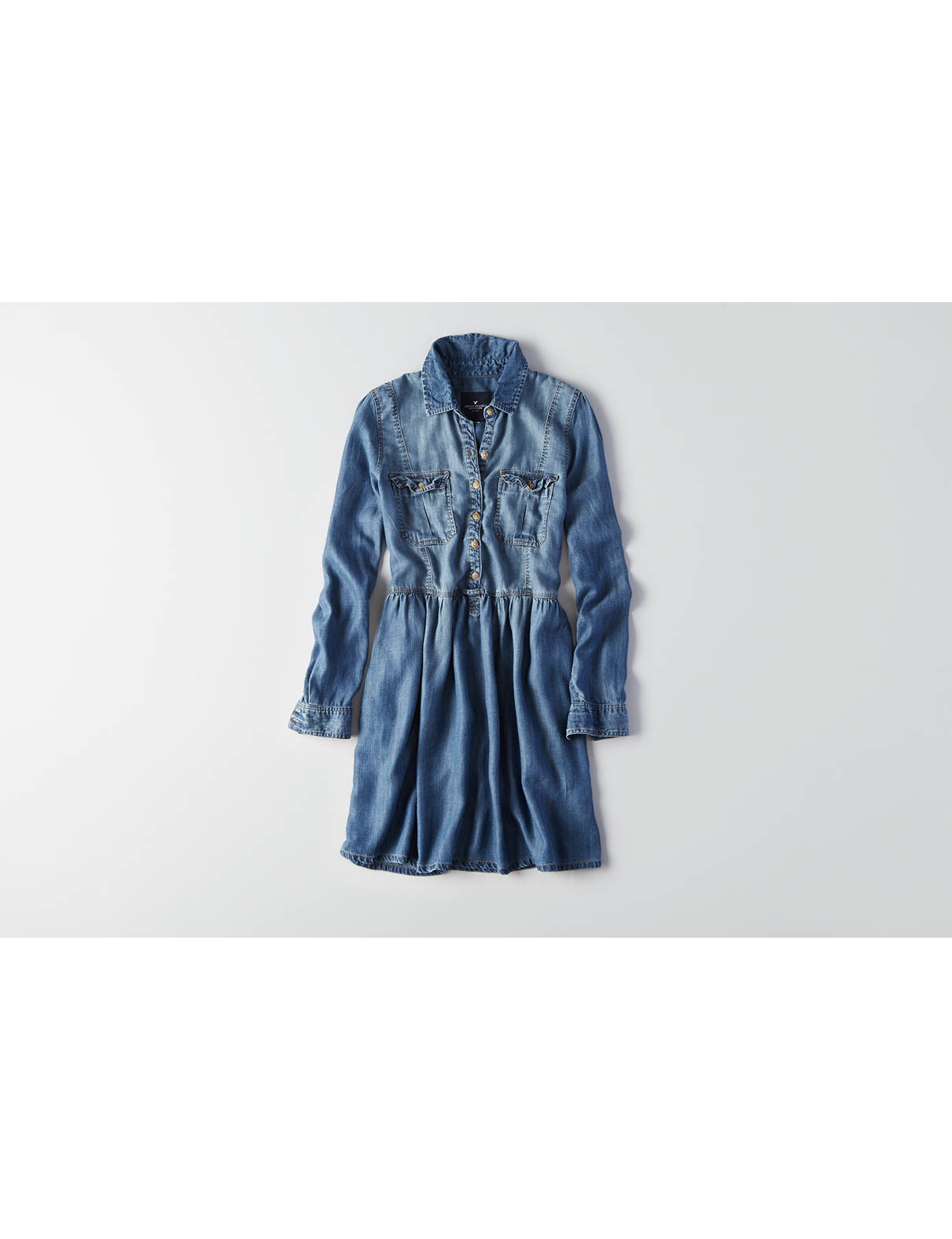 Display product reviews for AEO Chambray Shirtdress