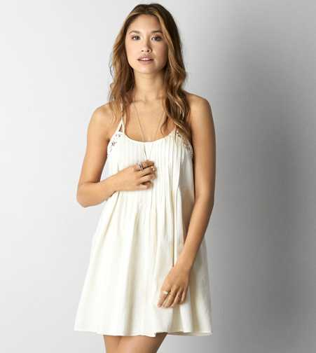 AEO Pintucked Shift Dress