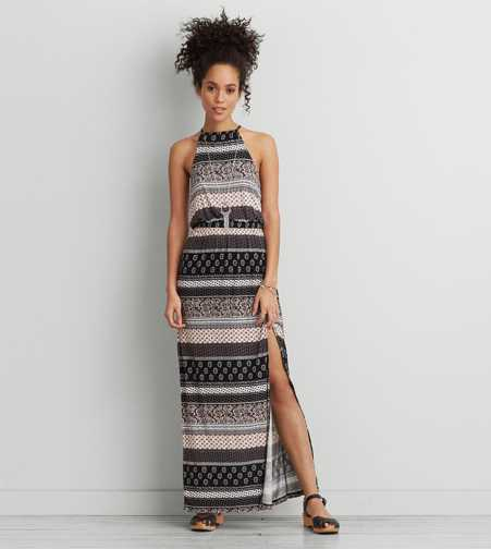 AEO Hi-Neck Maxi Dress