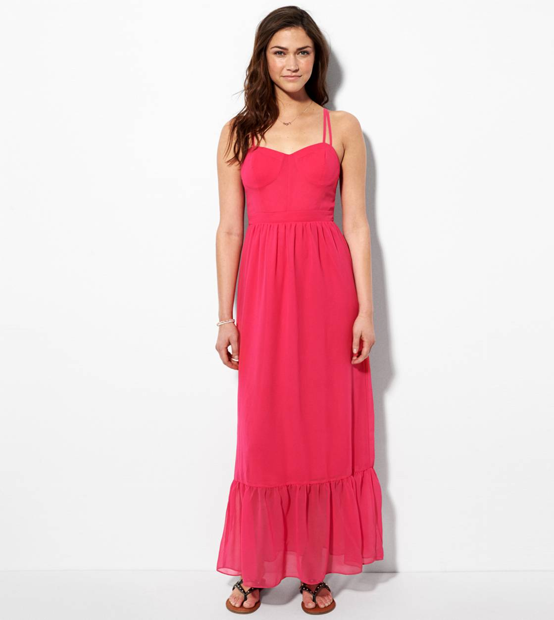 Pink AE Corset Maxi Dress