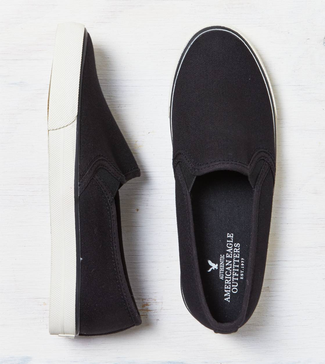 True Black AEO Slip-On Sneaker