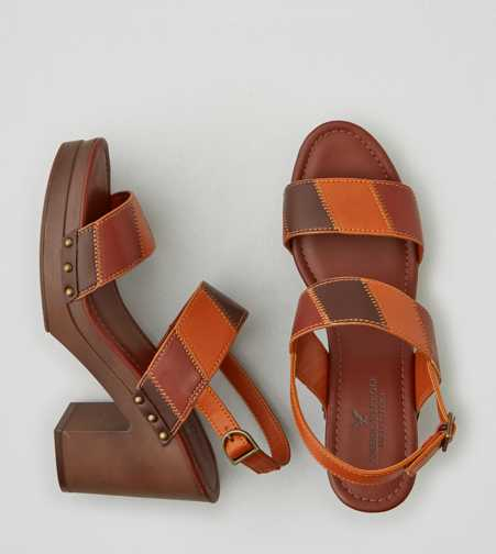AEO Patchwork Heel Clog - Free Shipping