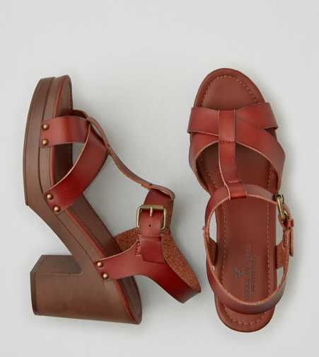AEO T-Strap Wedge Sandal   - Free Shipping