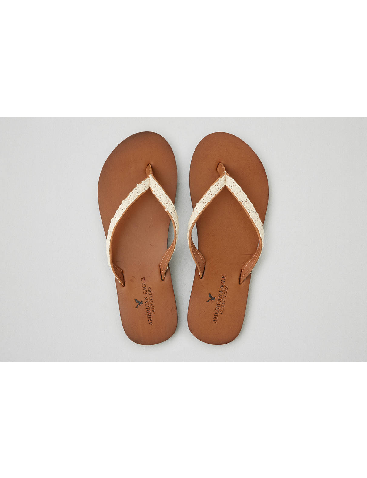 Display product reviews for AEO Crochet Leather Flip Flop