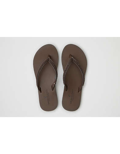 Womens Leather Flip Flops American Eagle Outfitters