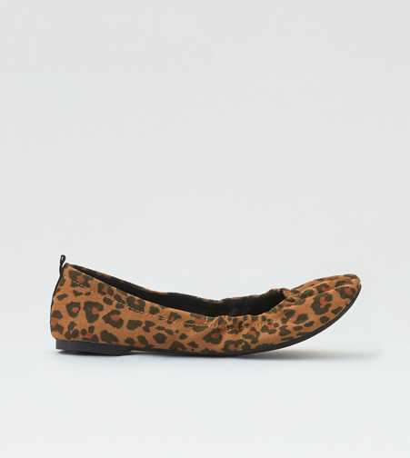 AEO Leopard Print Ballet Flat - Free Shipping