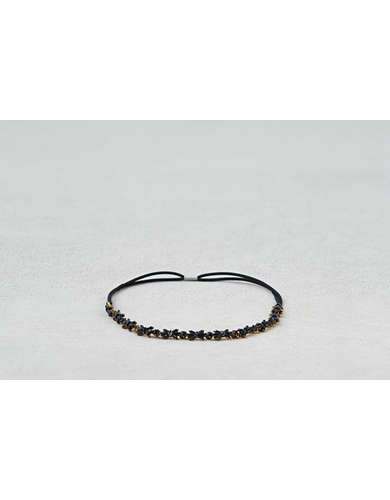 AEO Black Jeweled Headband  -