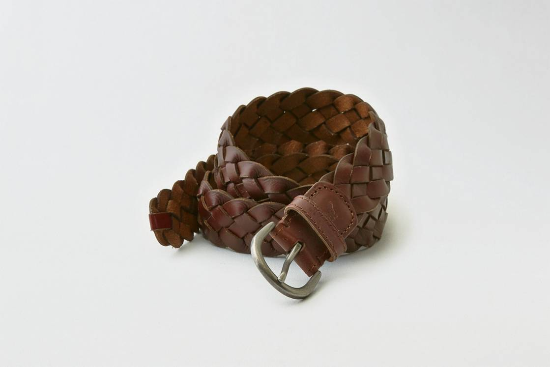 Brown AEO Braided Belt