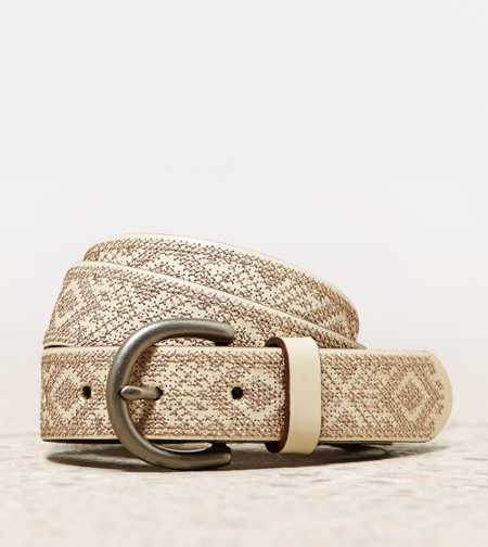 AEO Metallic Cross Stitch Belt
