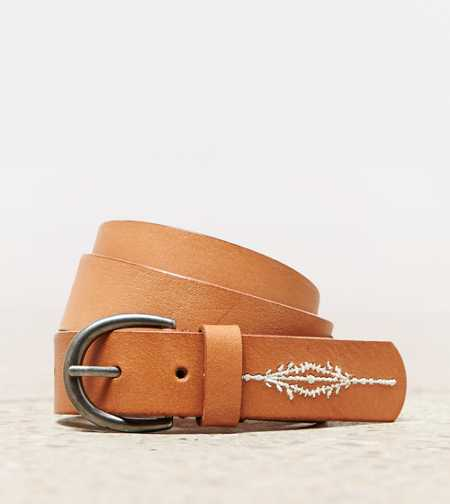 AEO Embroidered Leather Belt
