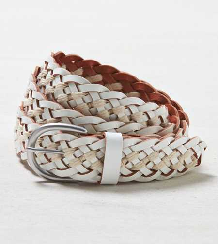 AEO Braided Leather & Cord Belt