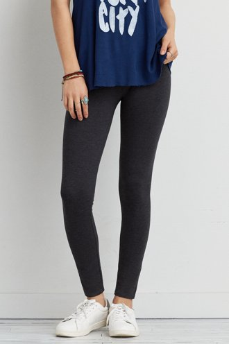 AEO Heathered Low Rise Legging - Available in Lengths!