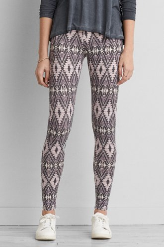 Hi-Rise Patterned Legging