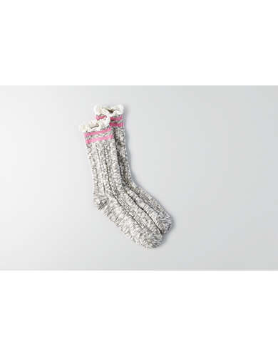 AEO Varsity Lace Crew Socks  - Buy One Get One FREE!