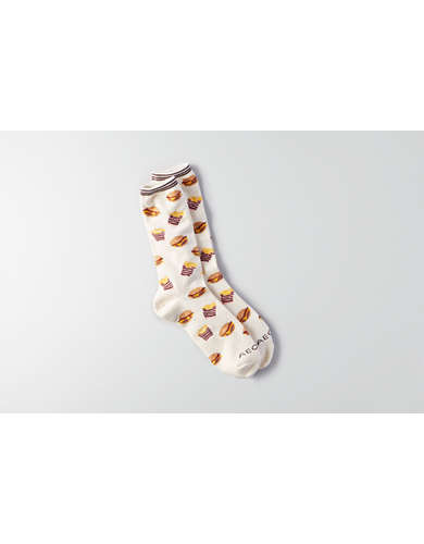 AEO Burger and Fries Crew Socks - Buy One Get One FREE!