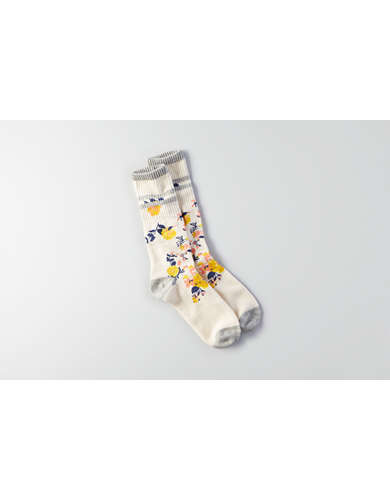AEO Floral Crew Socks  - Buy 2 for $10 USD