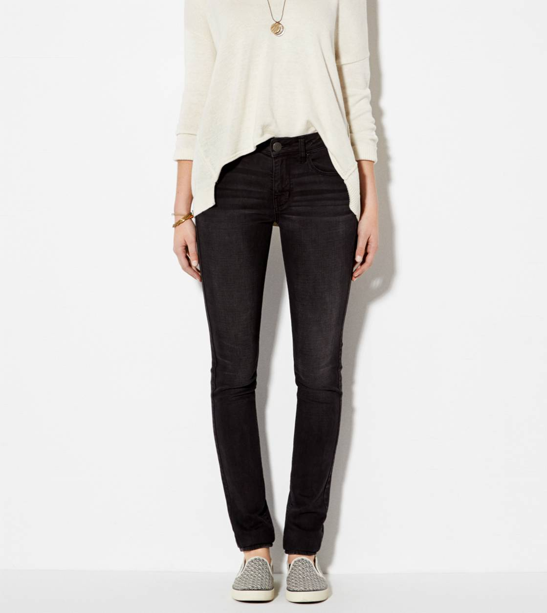 Washed Black High-Rise Skinny Jean