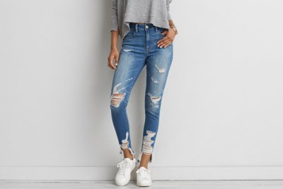Jegging tiro alto Denim X
