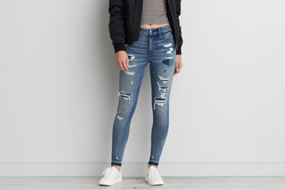 Jegging Denim X4 tiro alto
