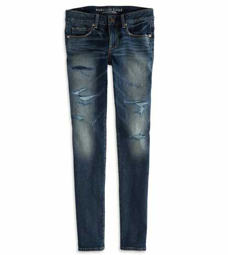 Patchwork Skinny Jean - Low Rise - Comfort Stretch