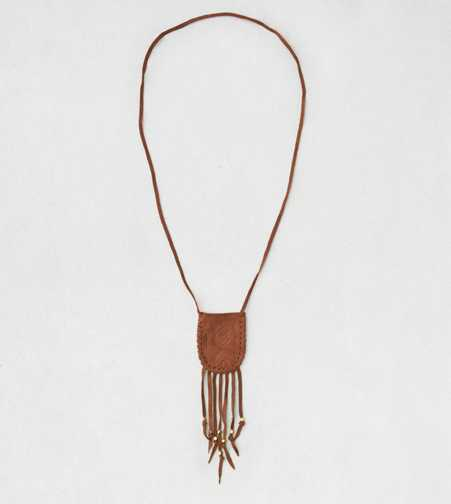 AEO Brown Pouch Necklace  - Buy One Get One 50% Off