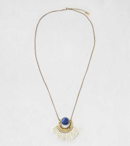 AEO Lapis & Fringe Pendant Necklace  - Buy One Get One 50% Off