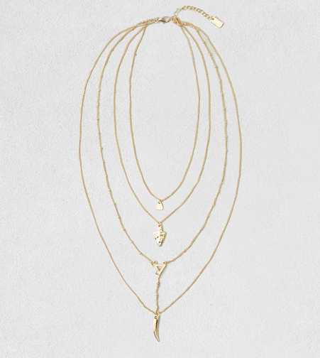 AEO Horn & Arrowhead Layer Necklace  - Buy One Get One 50% Off