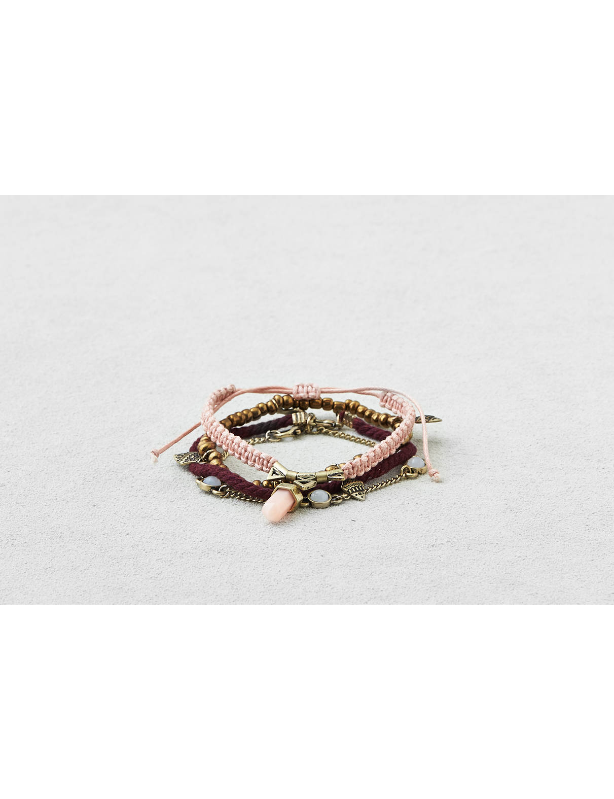 Display product reviews for AEO Brass & Pink Arm Party