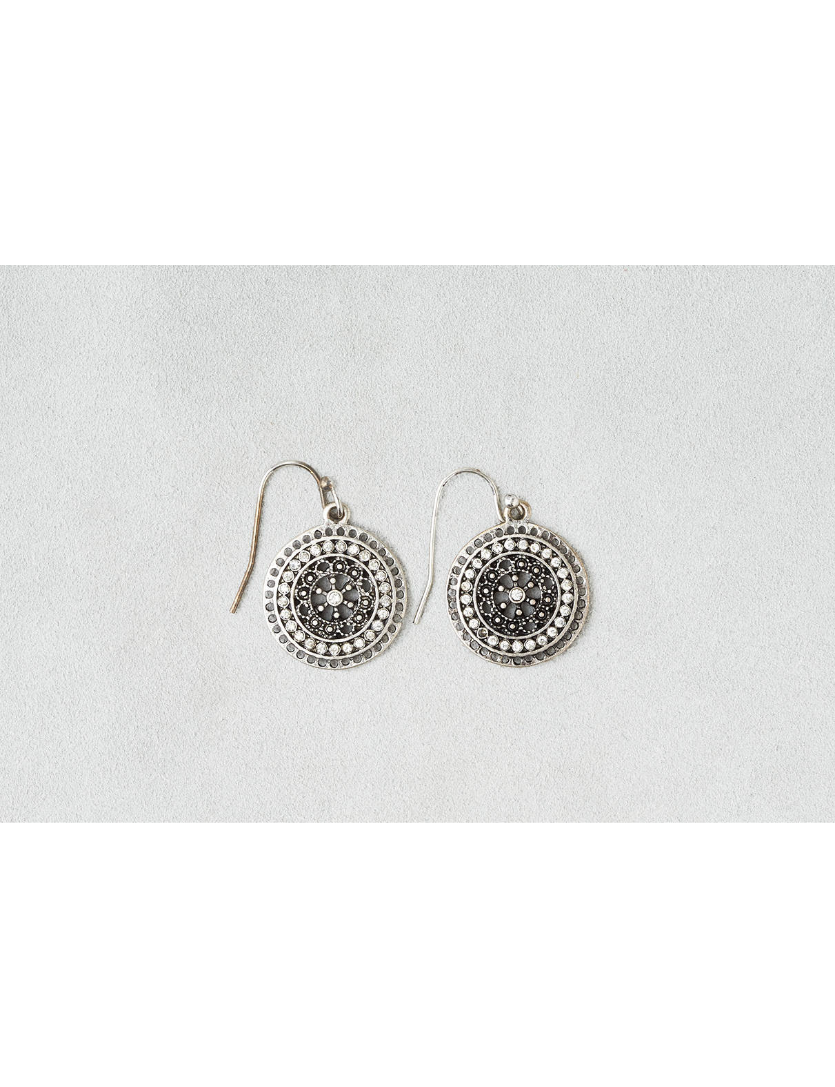 Display product reviews for AEO Rhinestone Disc Earrings