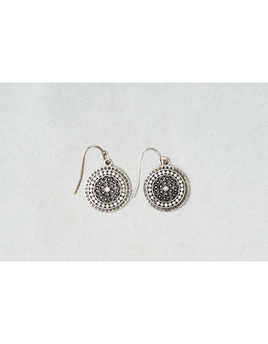 AEO Rhinestone Disc Earrings -