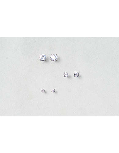 AEO Cubic Zirconia Earring Trio - Buy One Get One 50% Off