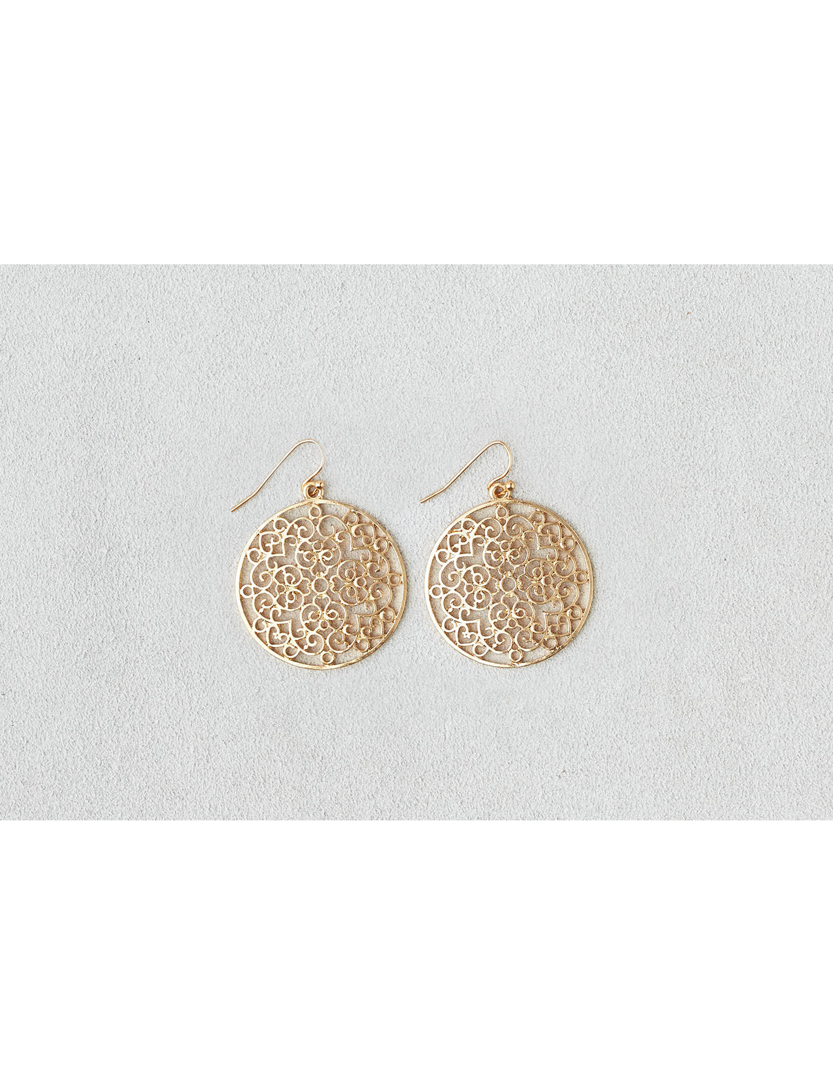 Display product reviews for AEO Cutout Disc Earring