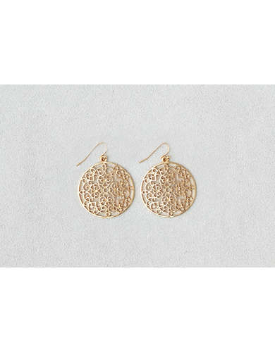 AEO Cutout Disc Earring -