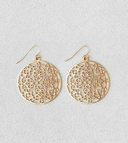 AEO Cutout Disc Earring - Buy One Get One 50% Off