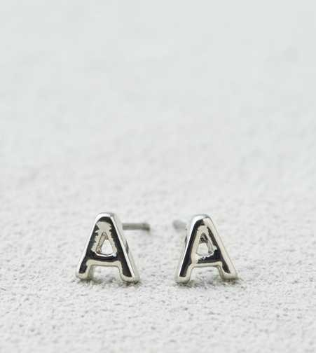AEO Silver Initial Studs  - Buy One Get One 50% Off